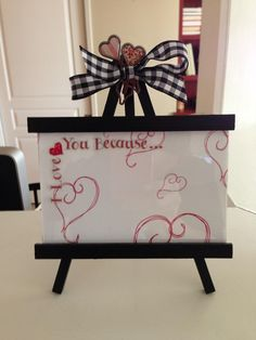 Craft for Sat Morning Mom's group.  Use dry erase or chalk pen to write messages.
