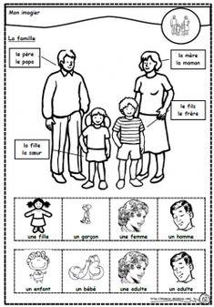 Lexique de la famille, cycle 2, père, mère, fils, fille, dixmois