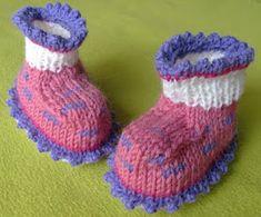 Purple crafts: Baby booties with instructions Baby Booties, Baby Shoes, Purple Crafts, Knitting For Kids, Knit Crochet, Crochet Blogs, Cute Babies, Slippers, Pattern