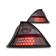 WinJet WJ20-0032-02 | 2001 Honda Civic Smoke LED Taillights for Coupe/Sedan/Hatchback/Wagon
