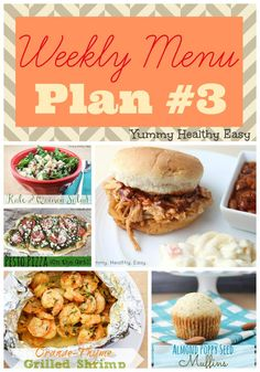 Don't forget to plan your meals for the week! TheWeekly Menu Plan #3 is full of yummy dinner, side dish and dessert ideas.Click HERE for last week's menu! Happy planning!  Dinner Ideas: Monday Easy Crock Pot Pulled Pork Tuesday Easy Sesame Chicken Wednesday Sweet and Sour Meatballs Thursday Grilled Pesto Pizza Friday Skinny Cheesy...Read More »