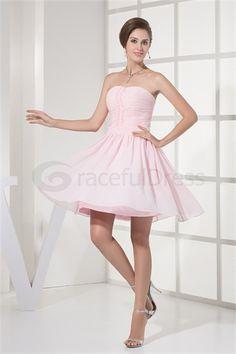 Pink Soft Sweetheart Sleeveless A-Line Bridesmaid Dress  http://www.GracefulDress.com/Pink-Soft-Sweetheart-Sleeveless-A-Line-Bridesmaid-Dress-p19109.html