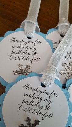 winter ONEderland party favor tags * blue and silver party favor tags * winter ONEderland birthday decorations * winter ONEderland by declanandsmith on Etsy First Birthday Winter, Boys First Birthday Party Ideas, Winter Birthday Parties, 1st Boy Birthday, 1st Birthday Favors, Birthday Decorations, Wedding Decorations, Party Favor Tags, Party Favors