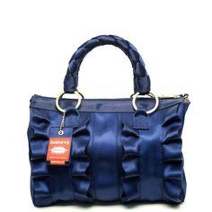Harveys Seatbelt Bag 2013 Lola Ruffle Satchel in ~Indigo Blue~