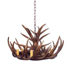 The Antler Chandelier is made from resin with a natural finish. Organic, African & Hampton's Styles.