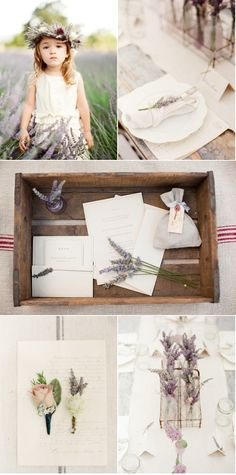 I wish I had a field of lavender as a backdrop for a party! Light purples and dark greens, and the scent!