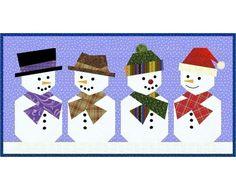 Snowman paper piecing quilt block pattern PDF
