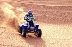 Dune Bashing with Quad Bike and Sand Boarding The ride of your life and ultimate adrenaline experience offers a new dimension to off road exploring. After basic instruction and a safety briefing, you will head off on a roller coaster drive through the sand dunes. This trip is sure to get your adrenaline pumping and will give you an incomparable desert ride.Be picked up from your hotel in the morning, and drive toward the desert. After approximately 1-hour, you will arrive at t...