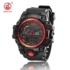 Good price 2016 NEW OHSEN Newest good quality Quartz watch,Waterproof Outdoor watches sport watch digital chronograph watch for men  just only $13.00 with free shipping worldwide  #menwatches Plese click on picture to see our special price for you