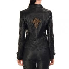Gisa Jacket | Vintage Goth | If you are looking for a gorgeous looking yet highly functional leather jacket, the Textured Black Brocade Jacket is the thing for you. Made in real leather fabric, the jacket is quite durable, and comfortable to wear. It has both retro and modern feel to it. The long sleeves and clinched waist of the jacket helps create the impression of a taller and slimmer you.