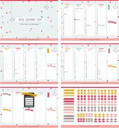 Un calendrier de 2014 (mignon) à imprimer et télécharger gratuite !