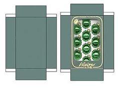 Miniature Printables - Green Christmas Ornaments (V)