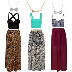 """""""Necklaces & Maxi Skirts"""" by thegirlnation on Polyvore #outfit #polyvore #skirts #necklace #style #fashion"""