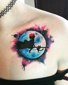 Kiki's Delivery Service Tattoo-- Kiki is is still my favorite out of all his movies. Future Tattoos, Love Tattoos, Beautiful Tattoos, Body Art Tattoos, New Tattoos, Small Tattoos, Awesome Tattoos, Tatoos, Miyazaki