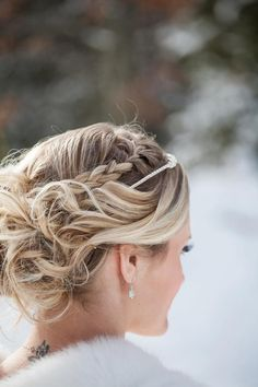 An absolutely stunning wedding hairstyle