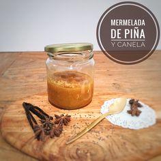 Mermelada de piña con canela sin azúcar añadido, sin gluten, sin conservantes. Totalmente natural!