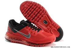 Mens Nike Air Max 2013 Red Black Silver Shoes Authentic