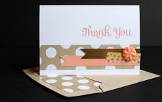 Quick and Easy Stampin' Up! Thank You Cards