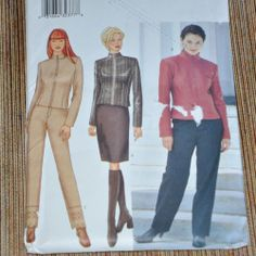 Sewing Pattern Butterick 6792 Size 12 14 16 Jacket Skirt Pants Uncut
