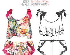 Patrón de costura lencería lencería Lexi Chick por EvielaLuveDIY