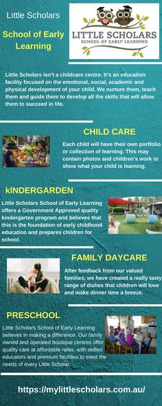 Little Scholars School of Early Learning offers a Queensland Government Approved quality kindergarten program and believes that this is the foundation of early childhood education and prepares children for school. Learning Centers, Early Learning, Physical Development, Early Childhood Education, Childcare, Physics, Kindergarten, Foundation, Preschool
