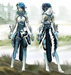 GW2 Style Character Creation, Character Concept, Character Art, Character Design, Dnd Characters, Fantasy Characters, Female Characters, Alien Female, Female Art