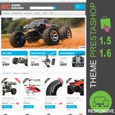 Thème PrestaShop 1.5 et 1.6 pour site ecommerce dédié à la vente de modélisme radiocommandé : hélicoptères, voitures, camions, avion, bateaux, accessoires…