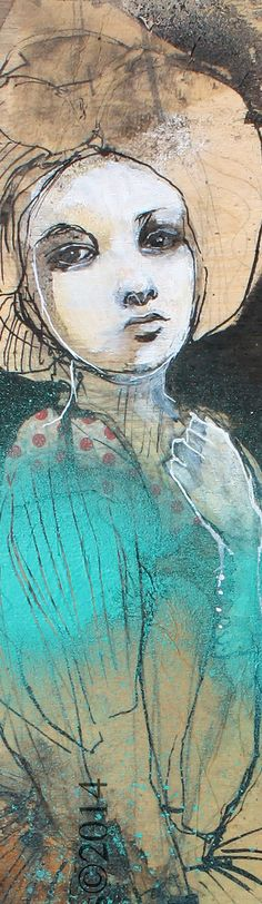 Oh, My Heart- Original mixed media painting by Maria Pace-Wynters
