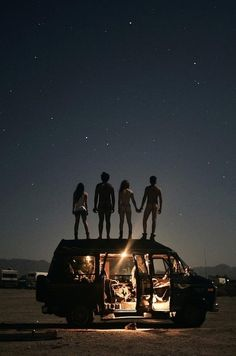 Truck roof, middle of nowhere, and star gazing, one of the best nights ever!