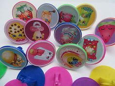 12 Shopkins Rings cupcake toppers - birthday party favor pinata cake toys