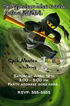 Ninjago Invitation - Printable Ninjago Birthday Party Invitation - Customizable-3