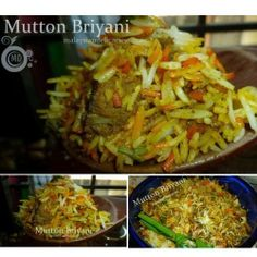 Mutton Briyani - rice cooked with mutton ,spices and herbs