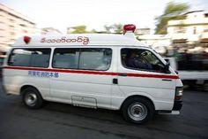Ambulance run in Yangon | Rangoon Myanmar