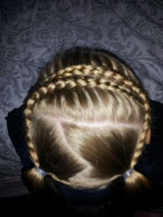 french braids into pigtails  ♡  thank you @Jenn L Milsaps of Girly Do Hairstyles