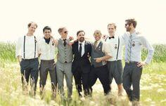 mix and match groomsmen