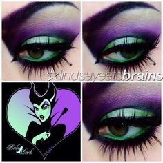 Disfraces de halloween Makeup inspired by fantasy characters Repairing Household Cleaning Equipment Maleficent Halloween Costume, Halloween Eyes, Halloween Makeup Looks, Disney Halloween, Halloween Costumes, Maleficent Cosplay, Costumes Kids, Costume Ideas, Disney Eye Makeup