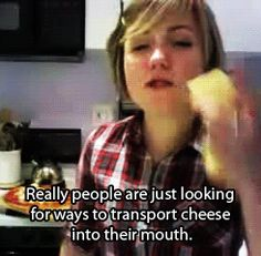 I want to have Hannah Hart to come to my house and we can get drunk and cook in my kitchen