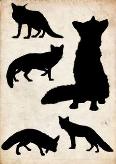 Fox (the wolf and the fox) Fuchs Silhouette, Silhouette Clip Art, Animal Silhouette, Owl Clip Art, Fox Art, Fox Crafts, Fox Drawing, Woodland Animals, Clipart