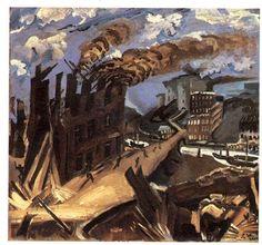 Ludwig Meidner, Burning Factory, c. Ludwig Meidner, Gothic Elements, The Royal School, Jewish Museum, Jasper Johns, Jewish Art, Painting Gallery, Paula Modersohn Becker, Urban Landscape