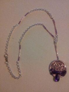 Collar rosa lazo y cadena 6,99€