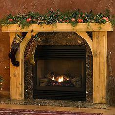 Wood+Fireplace+Surrounds | Timber Fireplace Mantels - Traditional Wood Fireplace Mantel Surrounds ...