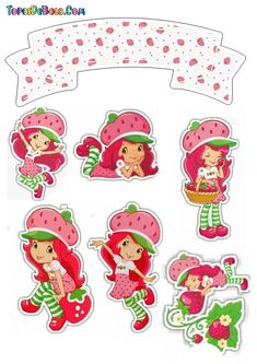 Strawberry Shortcake Coloring Pages, Strawberry Shortcake Cartoon, Strawberry Shortcake Birthday, Frozen Birthday Theme, First Birthday Themes, Birthday Images, Hello Kitty Invitation Card, Printable Crafts, Color Pencil Art