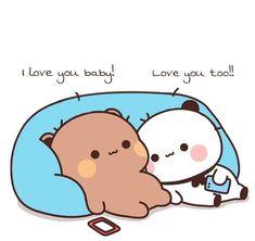 Cute Panda Cartoon, Cute Anime Cat, Cute Cartoon Images, Cute Cartoon Wallpapers, Buddha Drawing, Cute Love Stories, Cute Love Gif, Little Panda, Cute Love Cartoons