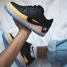 79 Womens Air Force 1 Jester XX SE Black Yellow Nike Air Force 1 Outfit 65ad3fc68