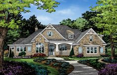 The Trenton 1417 is now in progress! Check out the front rendering of The Trenton, house plan 1417. #WeDesignDreams