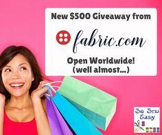 Global $500 Fabric.com Giveaway  https://gleam.io/yaWHg-ORwJVM?l=http%3A%2F%2Fso-sew-easy.com%2Fspring-summer-wardrobe-giveaway