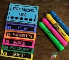 Use these testing treats to help your students during end of the year testing.  There are treat tags a test taking tips flipbook, door signs, and more!