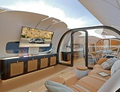 What's Not to Love About This Jet With a Moon Roof? Airbus x Pagani Infinito Jet Cabin Jets Privés De Luxe, Luxury Jets, Luxury Private Jets, Private Plane, Private Yacht, Private Jet Interior, Rv Interior, Airplane Interior, Airplane Decor