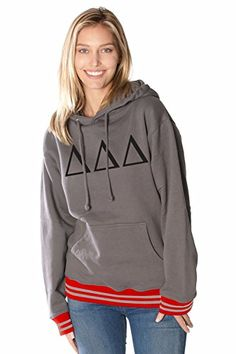 Rush 101 Delta Delta Delta College Hoodie University of Wisconsin - Greek Letter Sorority Hooded Sweatshirts