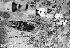 bombers, of the Twelfth Air force, dropped fragmentation bombs on El Aouina airdrome at Tunis, covering the airdrome and field completely. On the field below enemy planes can be seen burning. Operation Torch, Mind Blowing Pictures, Afrika Corps, North African Campaign, Rare Historical Photos, World War Two, Mind Blown, Wwii, History